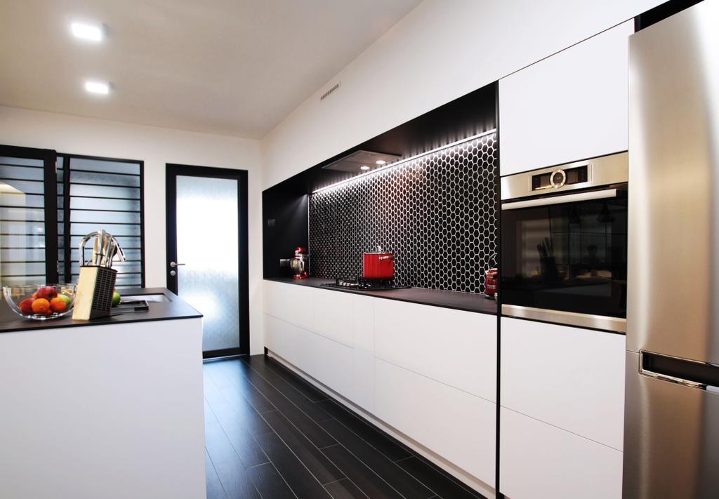 Modern, HDB, Kitchen, Pasir Ris, Interior Designer, Intrigue-d Design Consultancy, Contemporary
