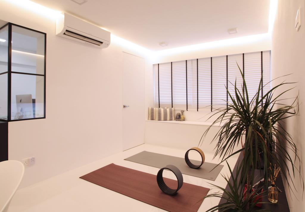 Modern, HDB, Living Room, Pasir Ris, Interior Designer, Intrigue-d Design Consultancy, Contemporary, Flora, Jar, Plant, Potted Plant, Pottery, Vase, Door, Sliding Door