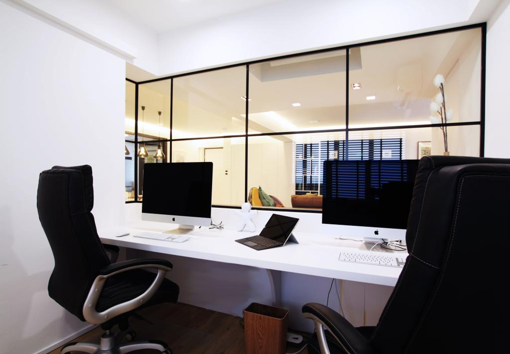 Modern, HDB, Study, Pasir Ris, Interior Designer, Intrigue-d Design Consultancy, Contemporary, Chair, Furniture, Conference Room, Indoors, Meeting Room, Room