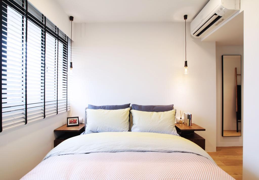 Modern, HDB, Bedroom, Pasir Ris, Interior Designer, Intrigue-d Design Consultancy, Contemporary, Bed, Furniture, Indoors, Interior Design, Room