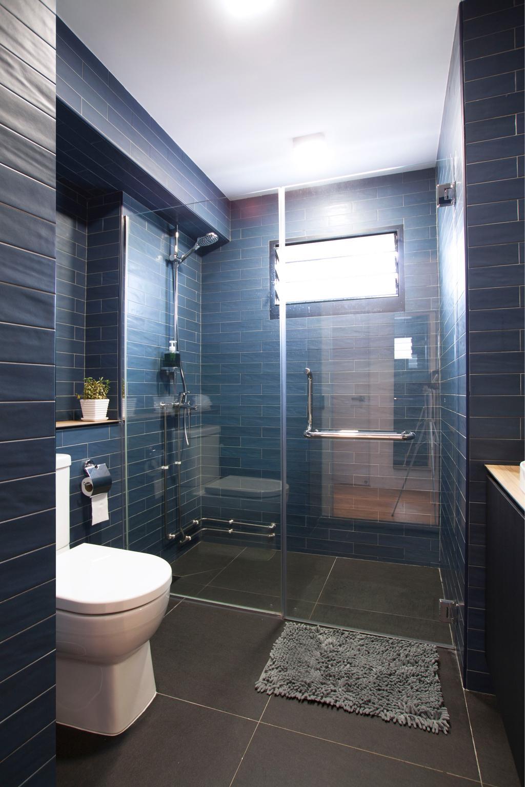 Modern, HDB, Bathroom, Pasir Ris, Interior Designer, Intrigue-d Design Consultancy, Contemporary