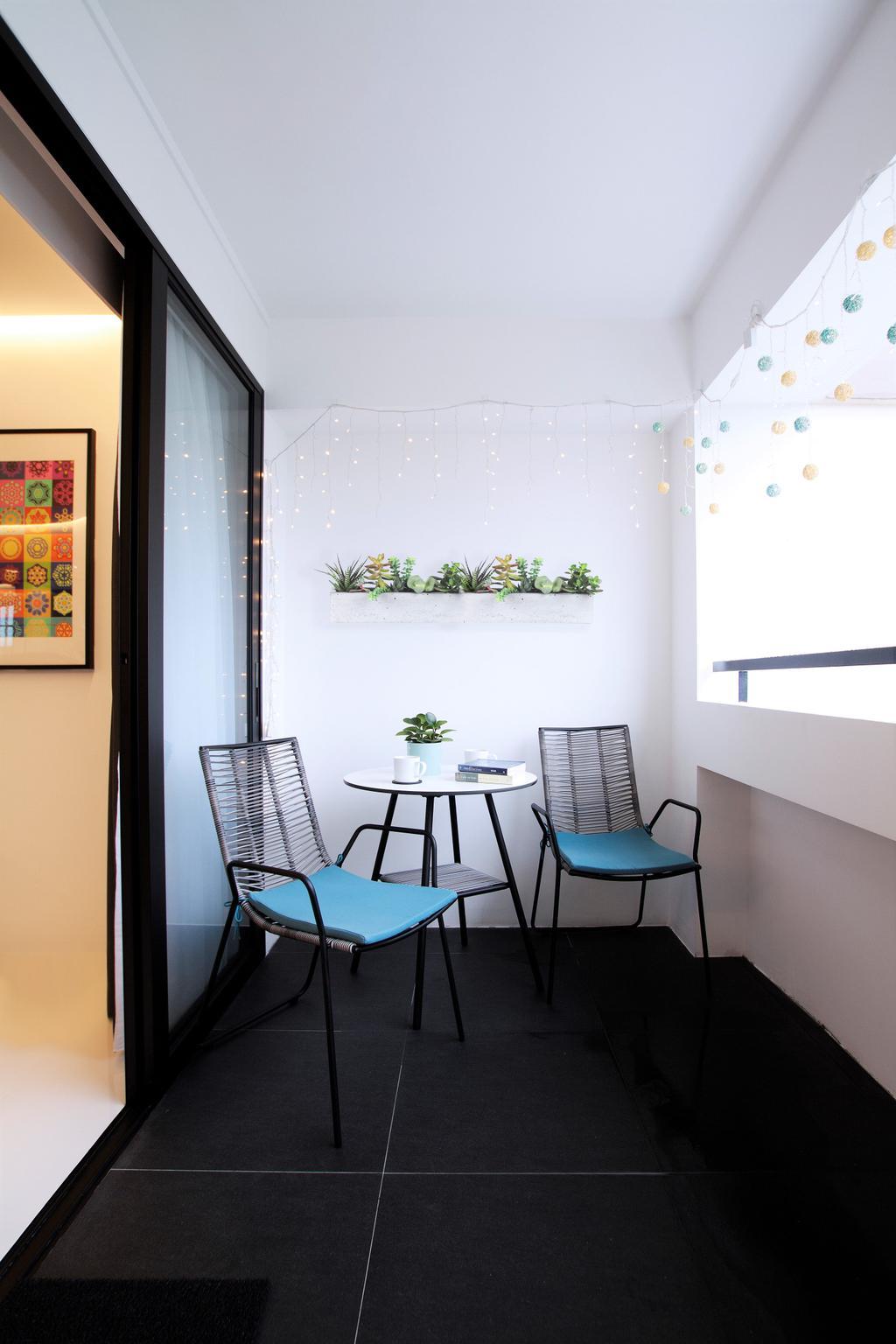 Modern, HDB, Balcony, Pasir Ris, Interior Designer, Intrigue-d Design Consultancy, Contemporary, Chair, Furniture, Dining Room, Indoors, Interior Design, Room