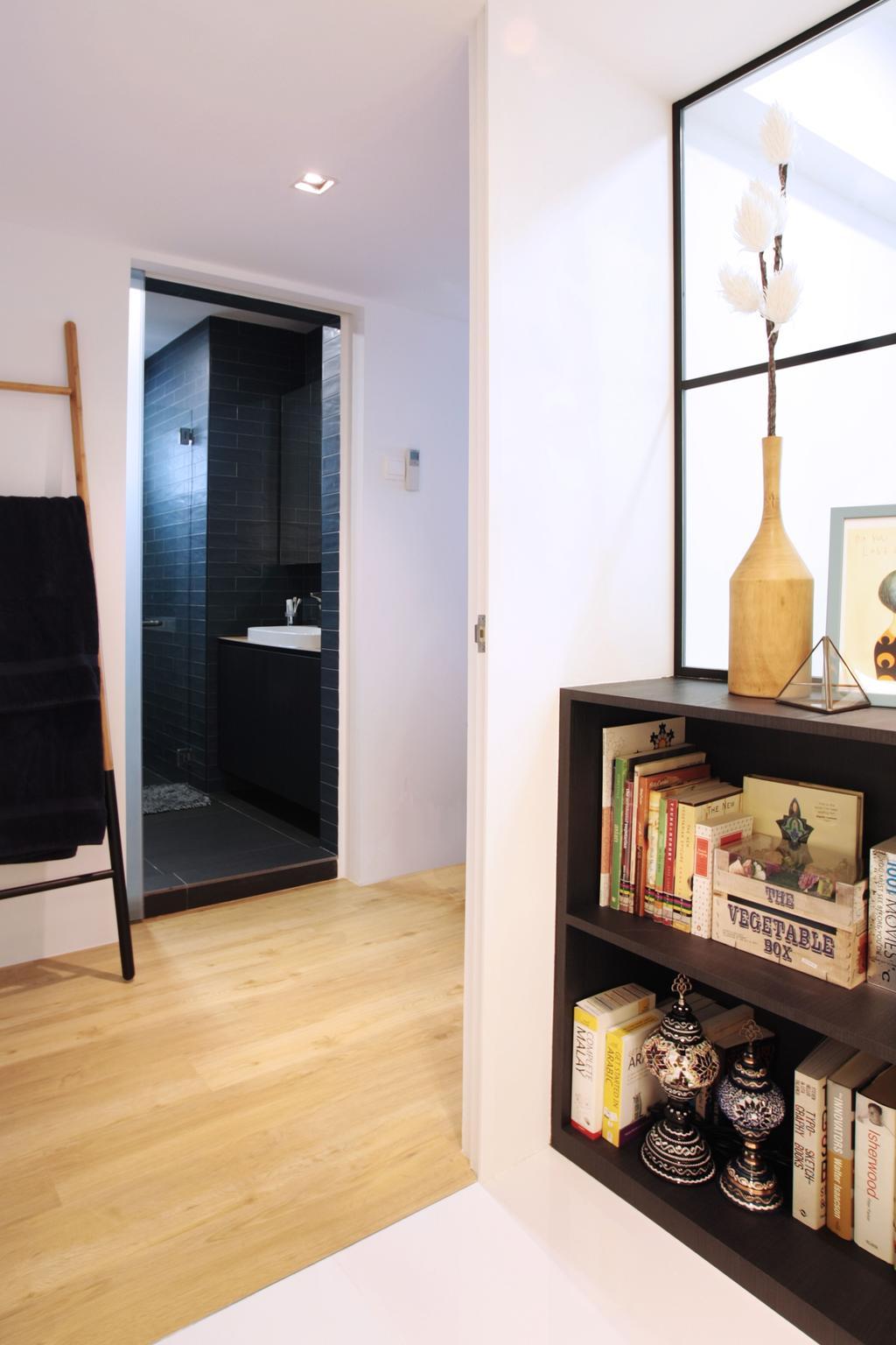 Modern, HDB, Bedroom, Pasir Ris, Interior Designer, Intrigue-d Design Consultancy, Contemporary, Bathroom, Indoors, Interior Design, Room, Shelf