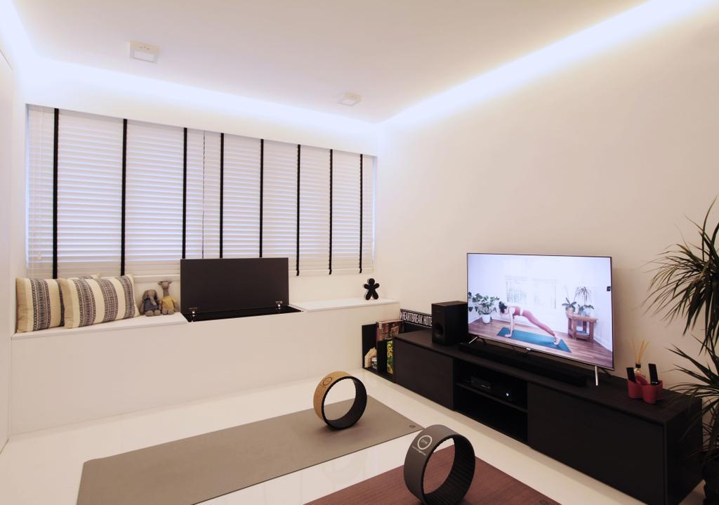 Modern, HDB, Living Room, Pasir Ris, Interior Designer, Intrigue-d Design Consultancy, Contemporary