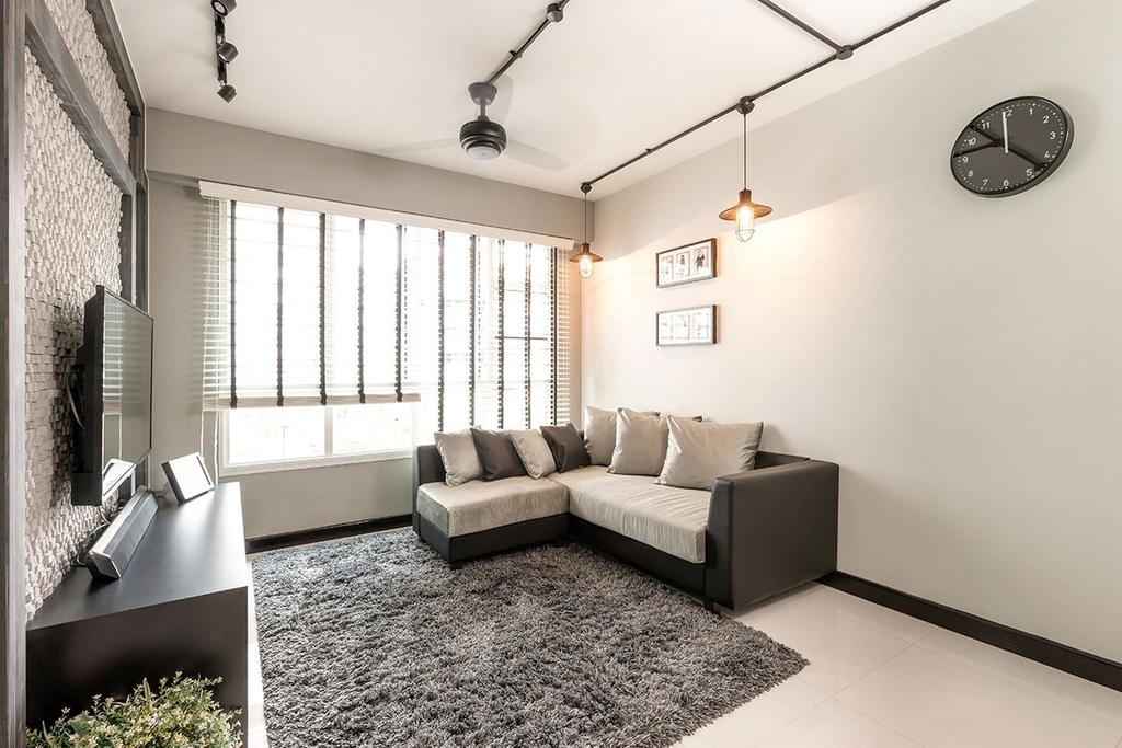 Modern, HDB, Living Room, Sumang Walk (Block 256B), Interior Designer, Icon Interior Design, Couch, Furniture, Indoors, Room