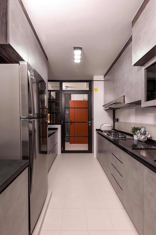 Modern, HDB, Kitchen, Sumang Walk (Block 256B), Interior Designer, Icon Interior Design