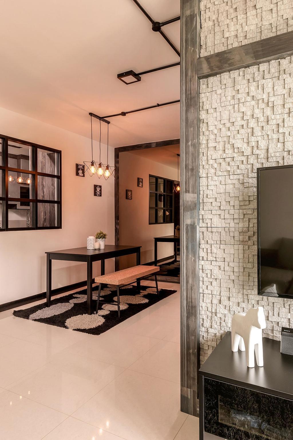 Modern, HDB, Dining Room, Sumang Walk (Block 256B), Interior Designer, Icon Interior Design, Indoors, Interior Design, Room, Chair, Furniture, Dining Table, Table