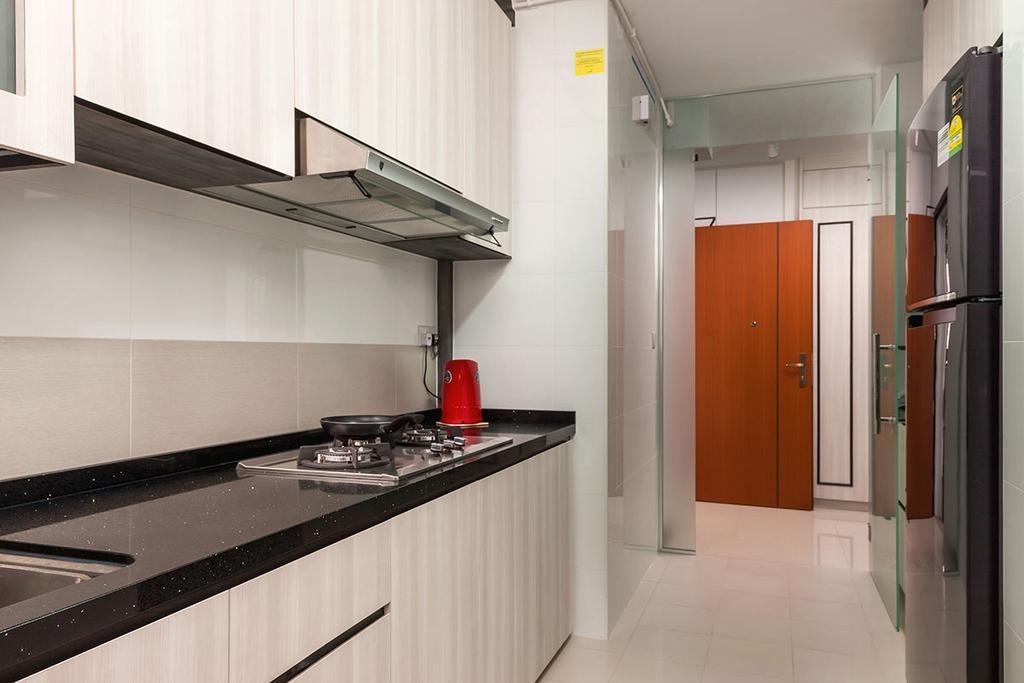 Modern, HDB, Kitchen, Sumang Walk (Block 256C), Interior Designer, Icon Interior Design, Contemporary, Building, Housing, Indoors, Loft