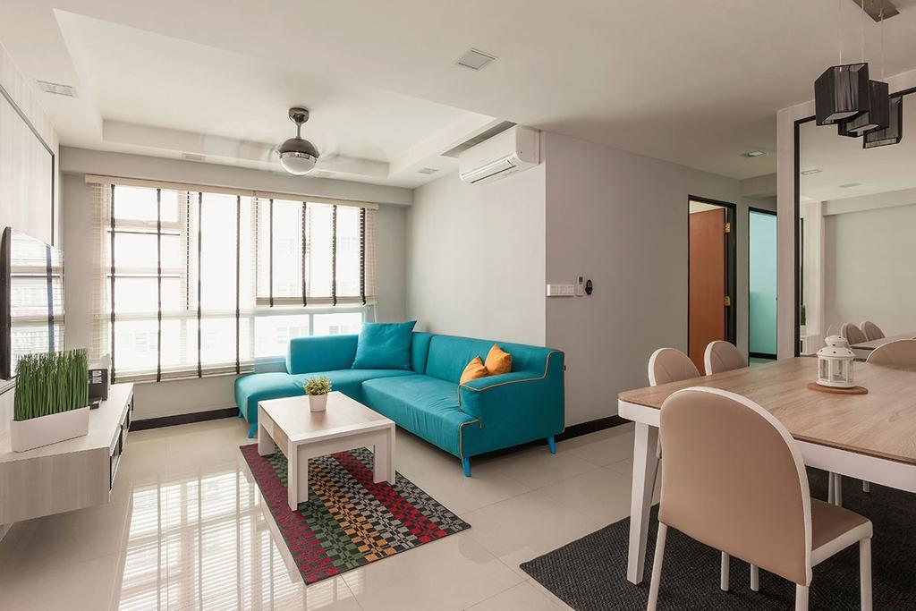 Modern, HDB, Living Room, Sumang Walk (Block 256C), Interior Designer, Icon Interior Design, Contemporary, Dining Table, Furniture, Table, Chair, Indoors, Room, Carpet, Home Decor