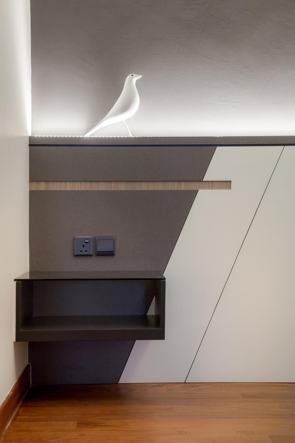 Modern, Condo, Bedroom, Siglap V, Interior Designer, Anhans Interior Design, Drawer, Furniture