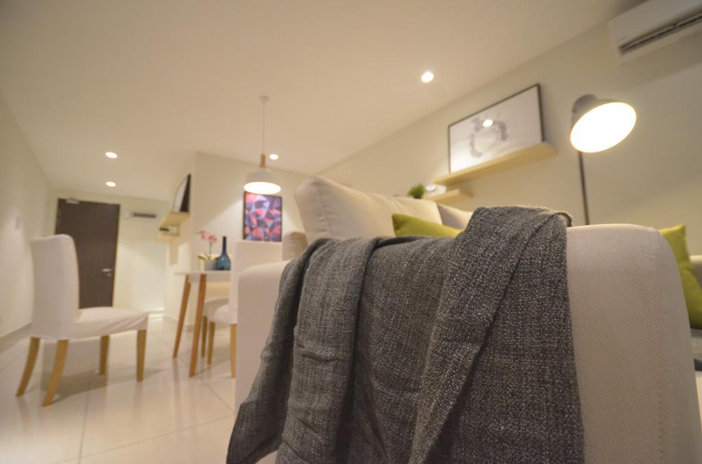 Modern, Condo, Maisson, Ara Damansara, Interior Designer, Anwill Design Sdn Bhd, Minimalistic, Dining Table, Furniture, Table, Chair, Lighting, Lamp