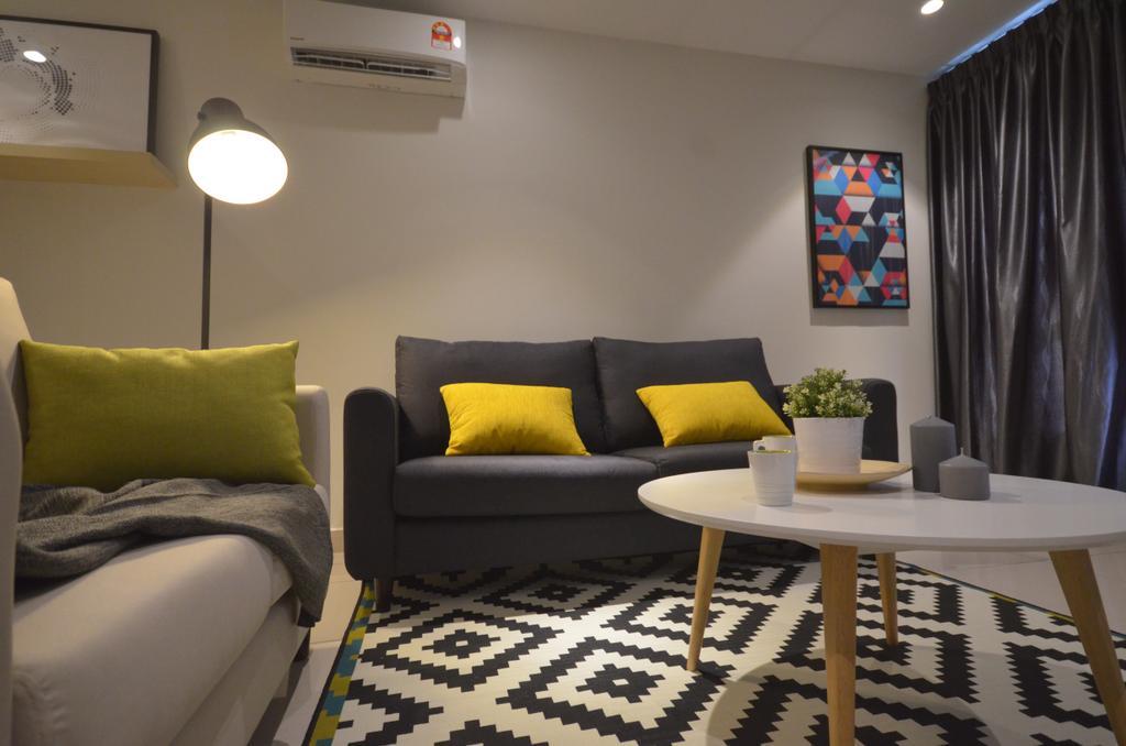 Modern, Condo, Maisson, Ara Damansara, Interior Designer, Anwill Design Sdn Bhd, Minimalistic, Couch, Furniture, Indoors, Room, Home Decor, Linen, Tablecloth, Dining Table, Table