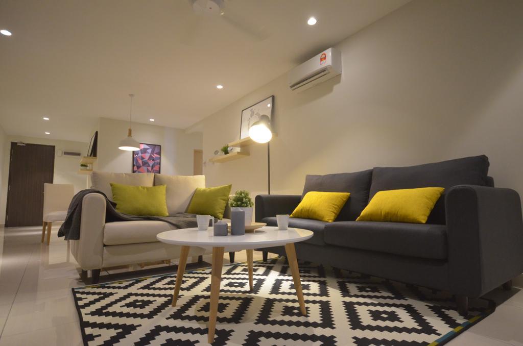 Modern, Condo, Maisson, Ara Damansara, Interior Designer, Anwill Design Sdn Bhd, Minimalistic, Couch, Furniture, Indoors, Interior Design