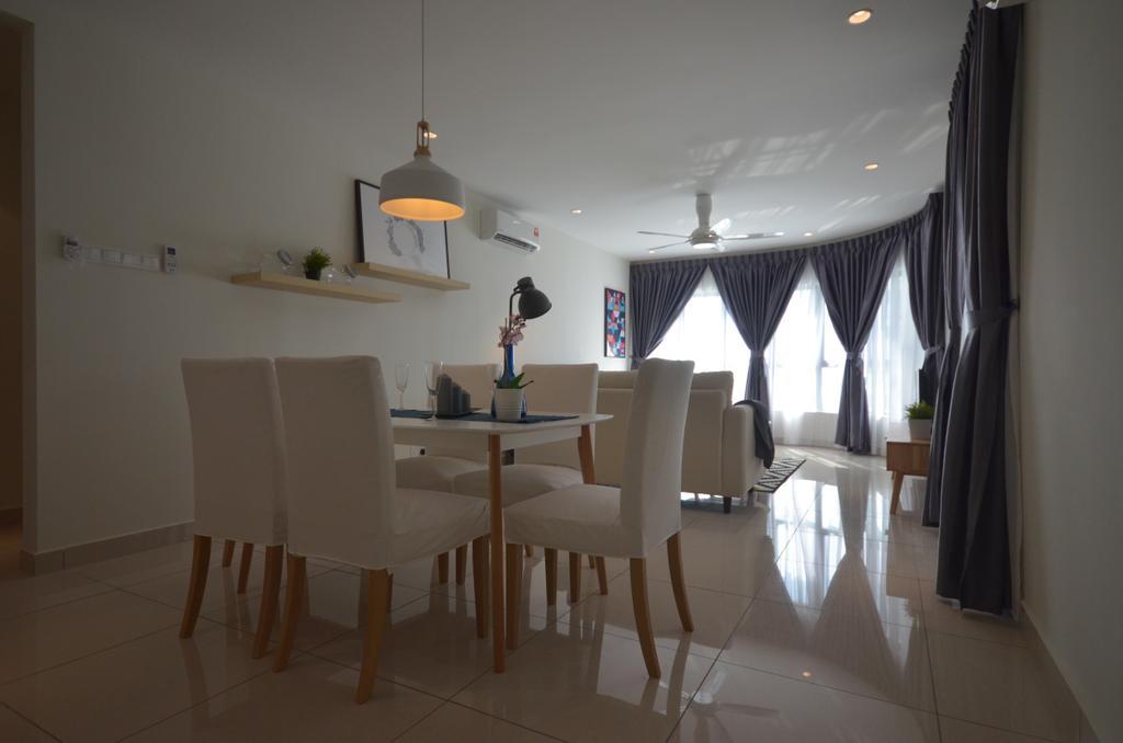 Modern, Condo, Maisson, Ara Damansara, Interior Designer, Anwill Design Sdn Bhd, Minimalistic, Dining Room, Indoors, Interior Design, Room, Dining Table, Furniture, Table, Chair