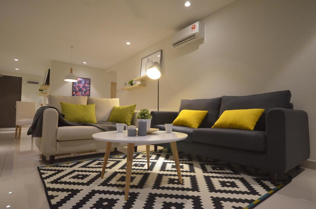 Modern, Condo, Maisson, Ara Damansara, Interior Designer, Anwill Design Sdn Bhd, Minimalistic, Couch, Furniture, Chair, Apartment, Building, Housing, Indoors