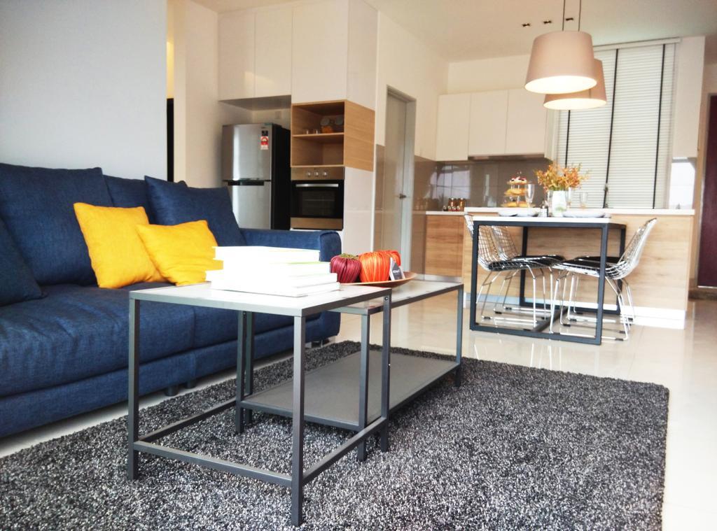 Contemporary, Condo, Living Room, D' Lagoon, Interior Designer, MODS Design, Couch, Furniture