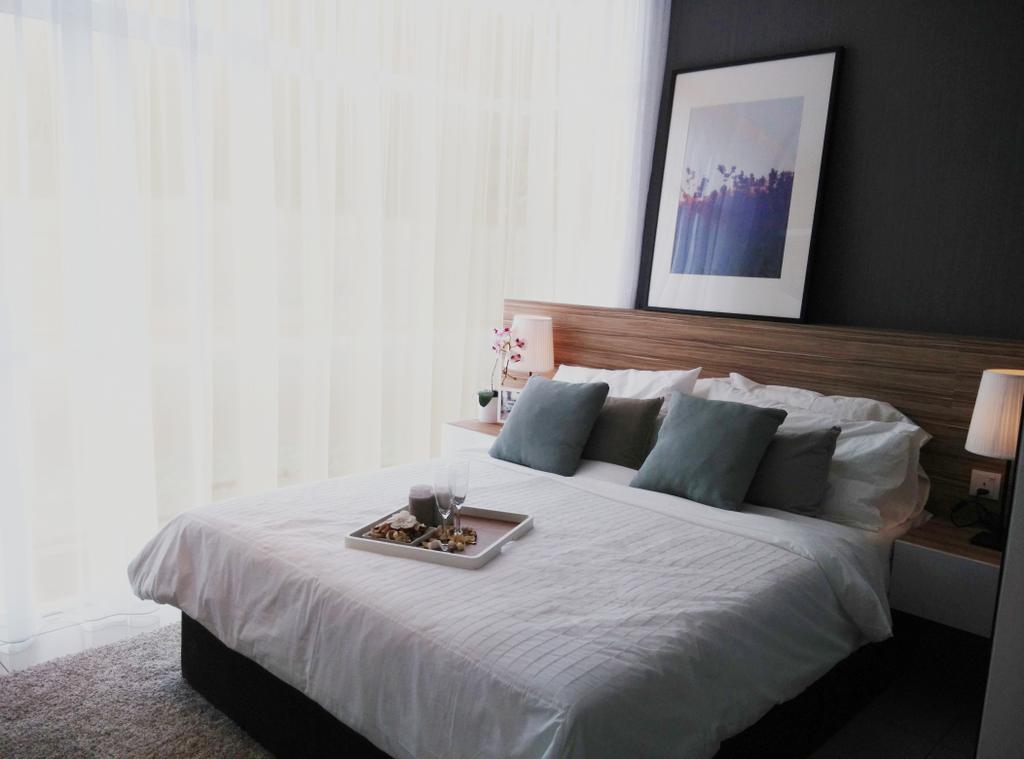 Contemporary, Condo, Bedroom, D' Lagoon, Interior Designer, MODS Design, Bed, Furniture