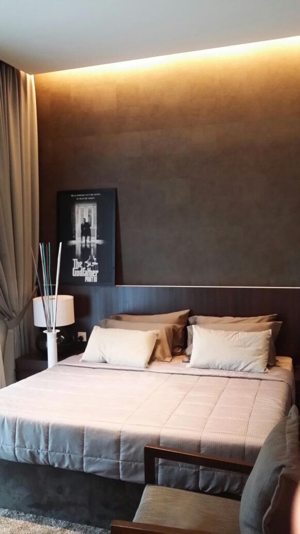 Contemporary, Condo, Bedroom, Adda Heights Show Unit (3B), Interior Designer, MODS Design, Indoors, Room, Lamp