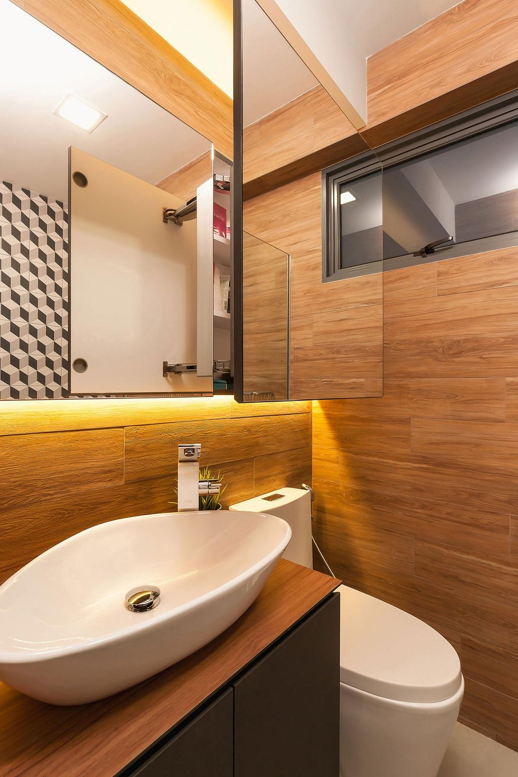 Scandinavian, HDB, Bathroom, Punggol Waterway Terrace (Block 308C), Interior Designer, Icon Interior Design, Indoors, Interior Design, Room, Sink
