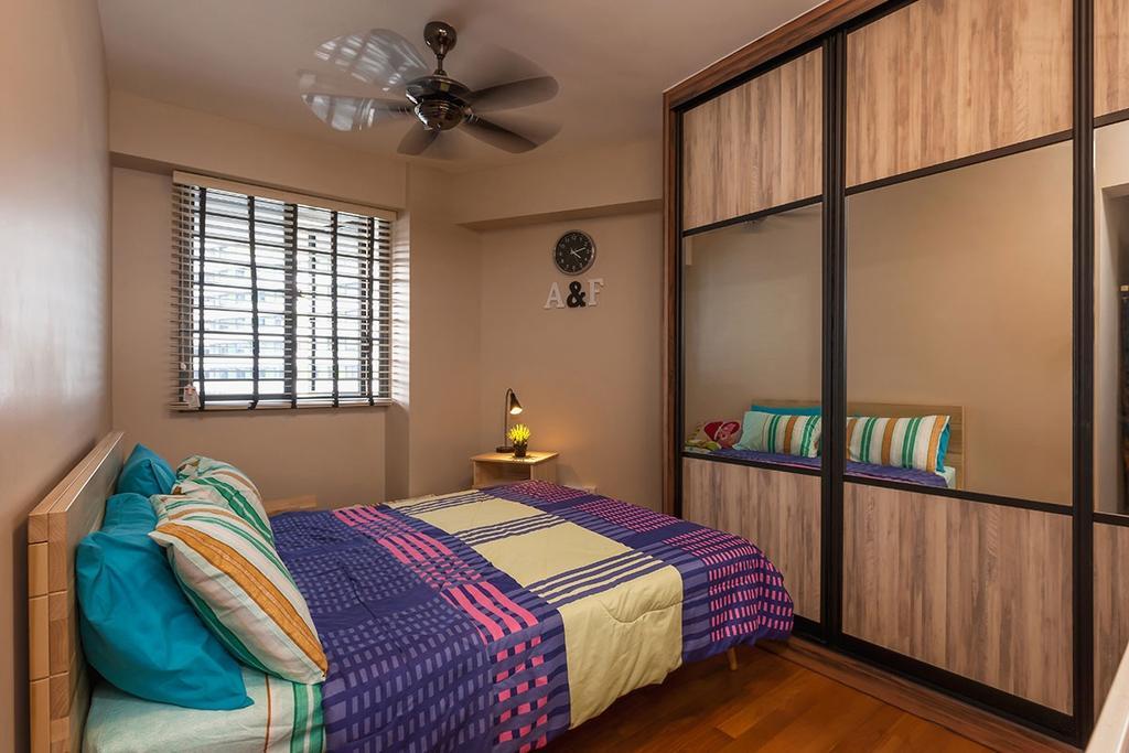 Minimalistic, HDB, Bedroom, Punggol Walk (Block 310B), Interior Designer, Icon Interior Design, Contemporary, Bed, Furniture, Indoors, Interior Design, Room