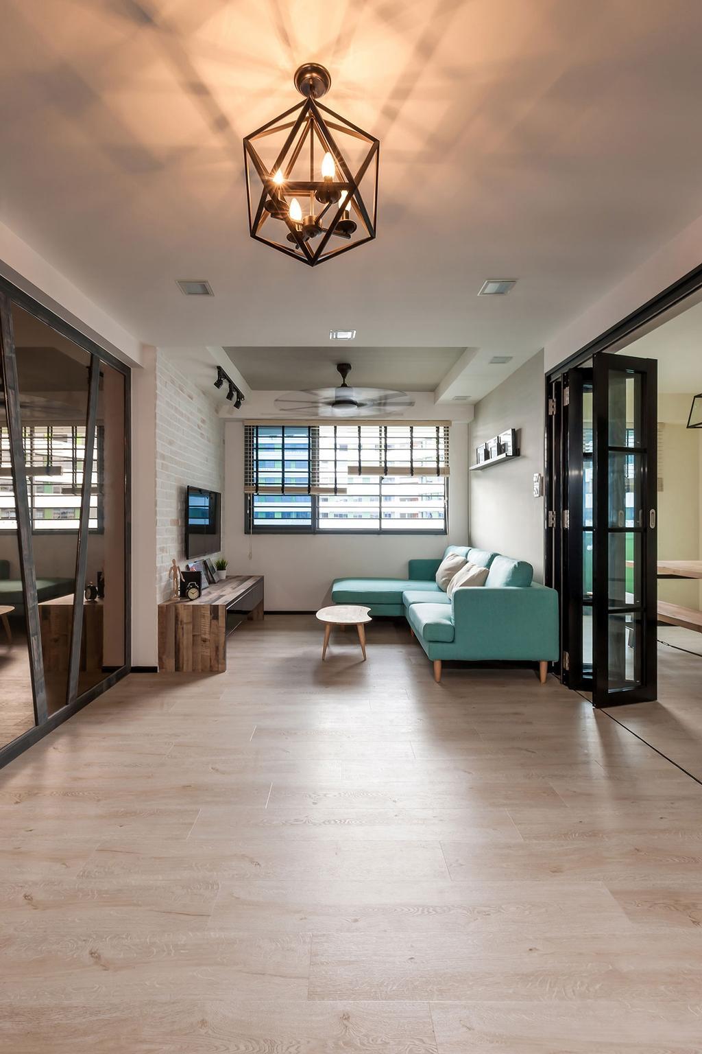 Minimalistic, HDB, Living Room, Punggol Walk (Block 310B), Interior Designer, Icon Interior Design, Contemporary