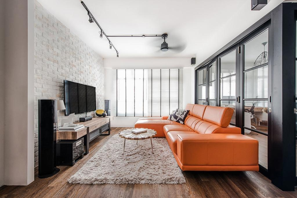 Industrial, HDB, Living Room, Yishun Avenue 9 (Block 318C), Interior Designer, Icon Interior Design