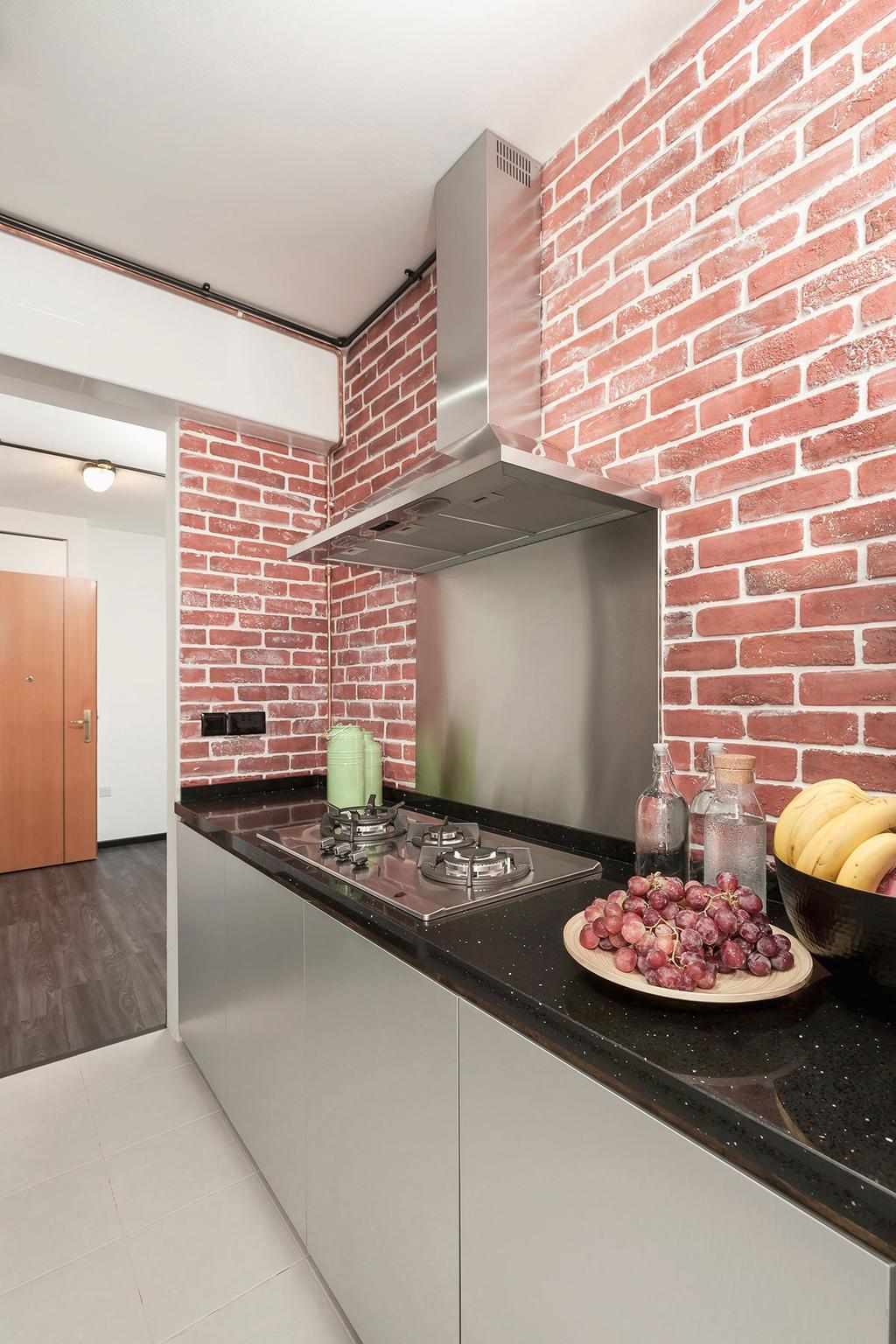 Industrial, HDB, Kitchen, Anchorvale Street (Block 329B), Interior Designer, Icon Interior Design, Bottle