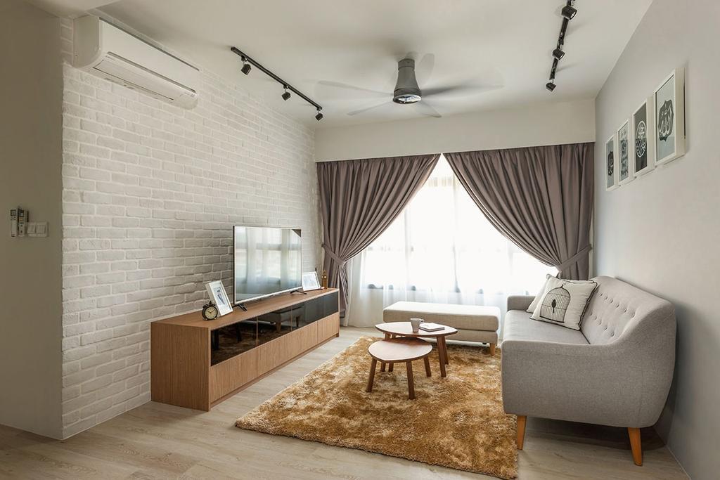 Modern, HDB, Living Room, Fernvale Street (Block 471A), Interior Designer, Icon Interior Design, Minimalistic, Indoors, Room, Dining Room, Interior Design