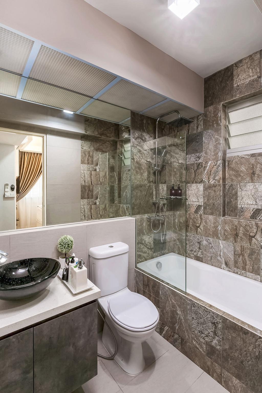 Modern, HDB, Bathroom, Costa Ris (Block 526), Interior Designer, Icon Interior Design, Indoors, Interior Design, Room