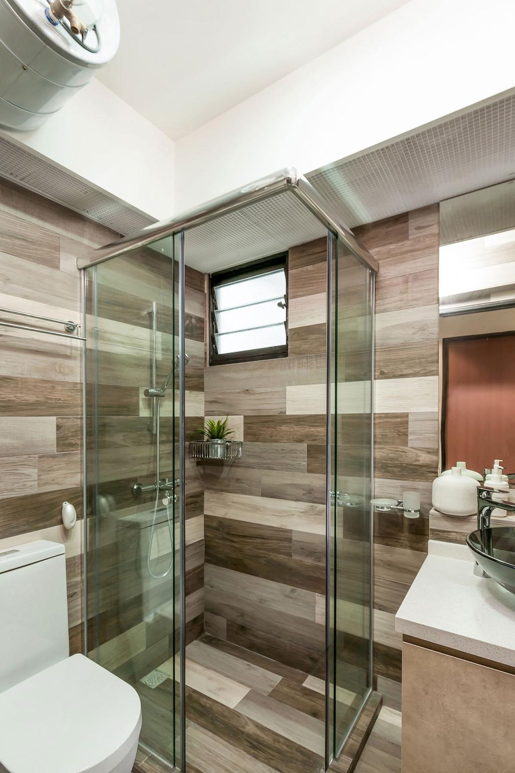 Modern, HDB, Bathroom, Segar Road (Block 547A), Interior Designer, Icon Interior Design, Molding, Toilet, Indoors, Interior Design, Room