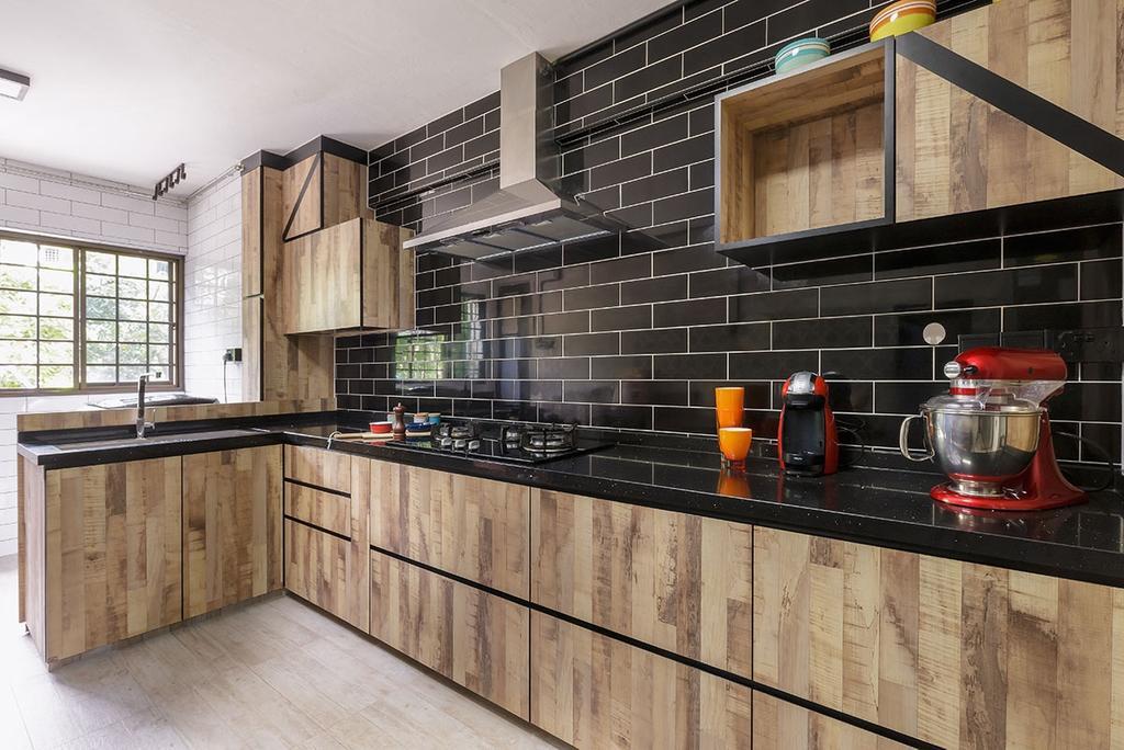 Contemporary, HDB, Kitchen, Bedok (Block 615), Interior Designer, Icon Interior Design, Wood