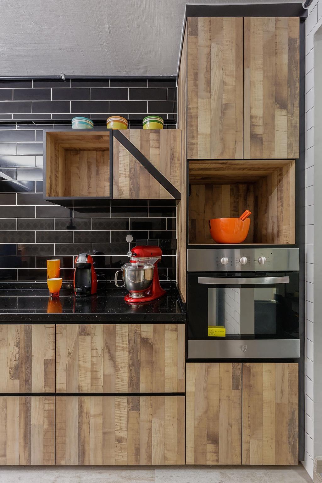 Contemporary, HDB, Kitchen, Bedok (Block 615), Interior Designer, Icon Interior Design, Mixer, Bowl, Appliance, Electrical Device, Oven, Indoors, Interior Design, Room