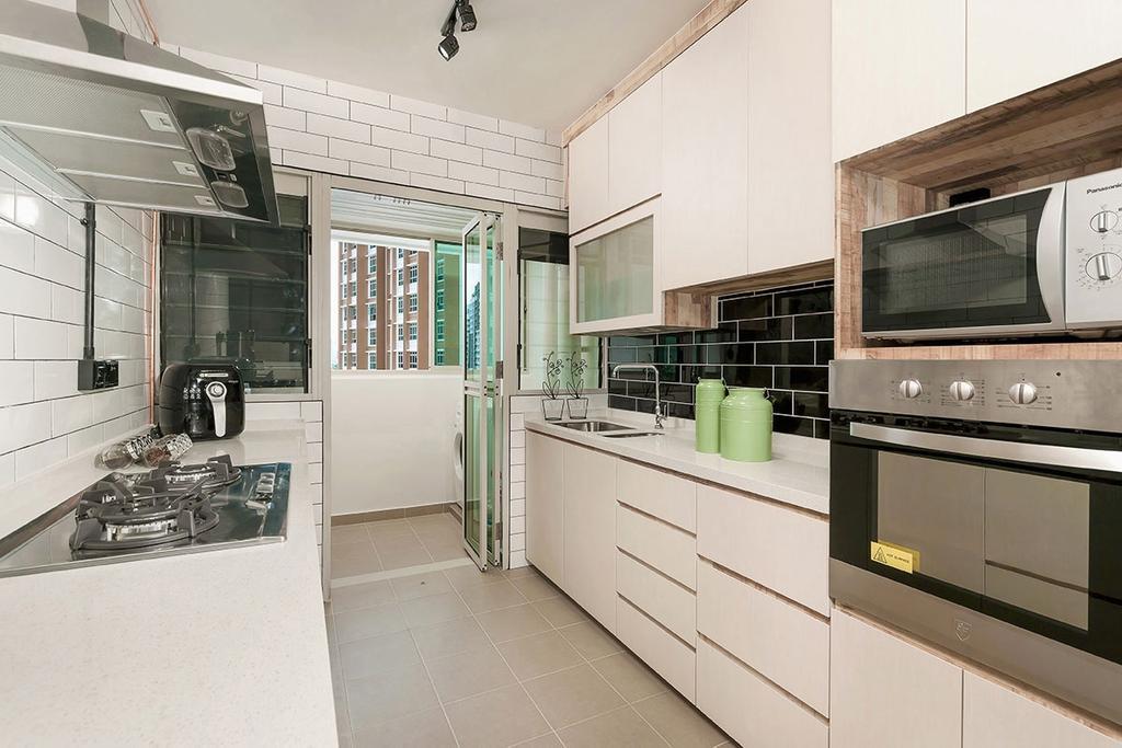 Contemporary, HDB, Kitchen, Punggol Drive (Block 665C), Interior Designer, Icon Interior Design, Indoors, Interior Design, Room