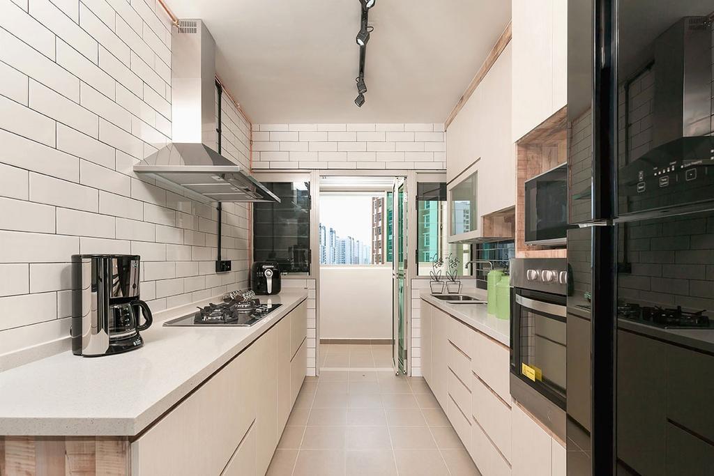 Contemporary, HDB, Kitchen, Punggol Drive (Block 665C), Interior Designer, Icon Interior Design