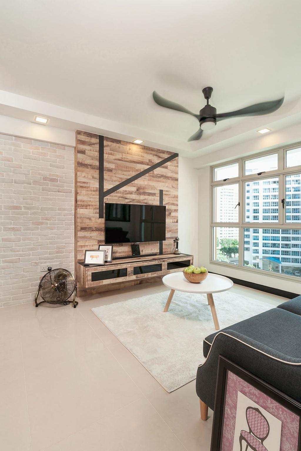 Contemporary, HDB, Living Room, Punggol Drive (Block 665C), Interior Designer, Icon Interior Design, Indoors, Interior Design, Coffee Table, Furniture, Table
