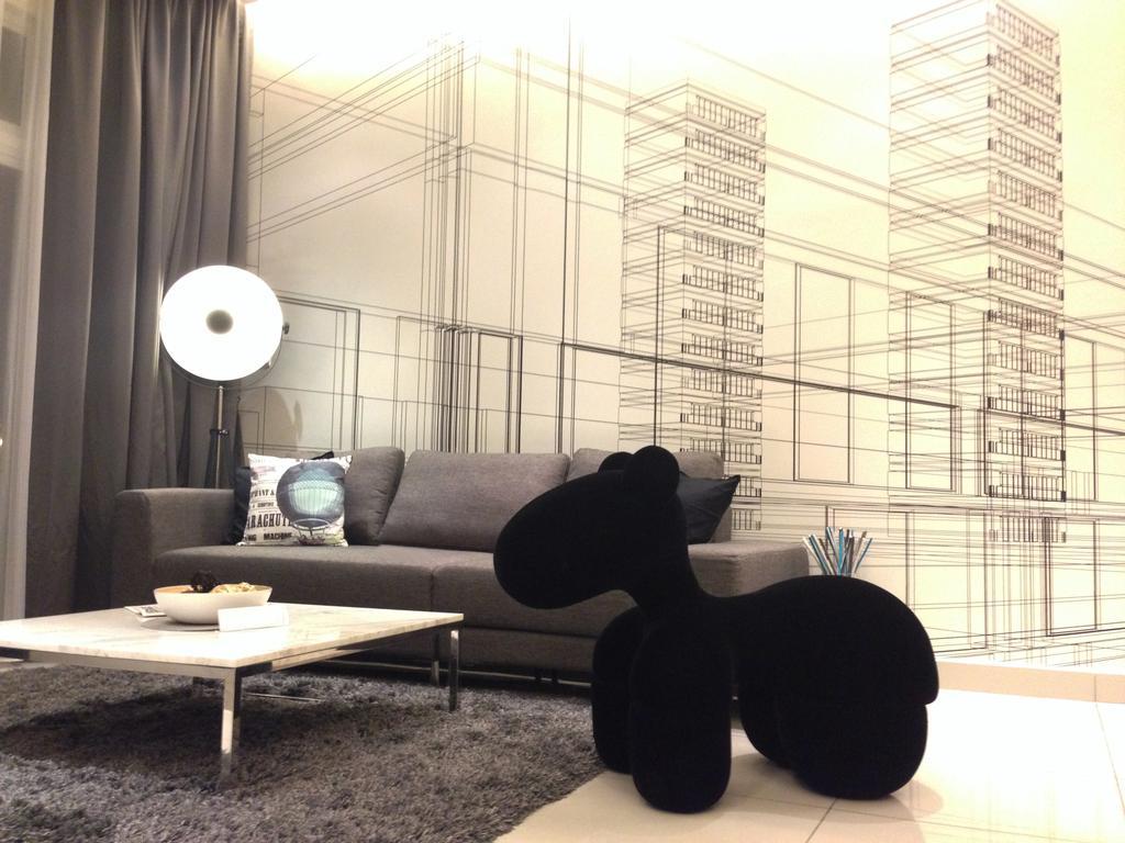 Contemporary, Condo, Living Room, Adda Heights Show Unit (3B), Interior Designer, MODS Design, Couch, Furniture, Ball, Sphere, Silhouette
