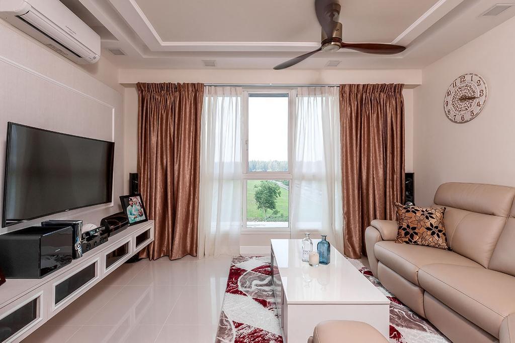 Modern, HDB, Living Room, Edgefield Plains (Block 669B), Interior Designer, Icon Interior Design, Indoors, Room