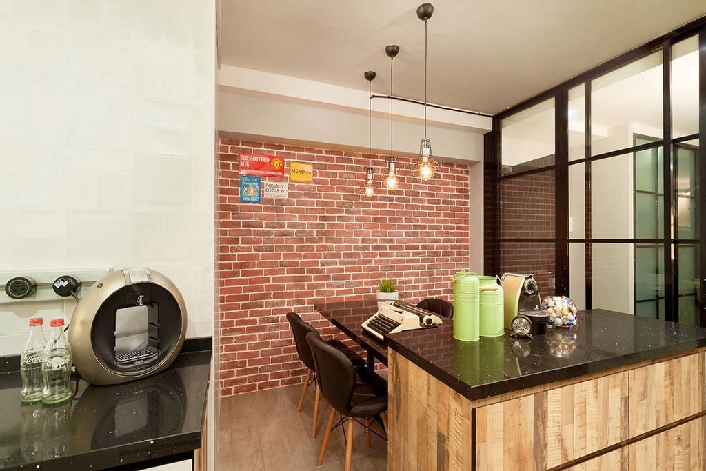 Industrial, HDB, Dining Room, Pasir Ris Street 72 (Block 713), Interior Designer, Icon Interior Design