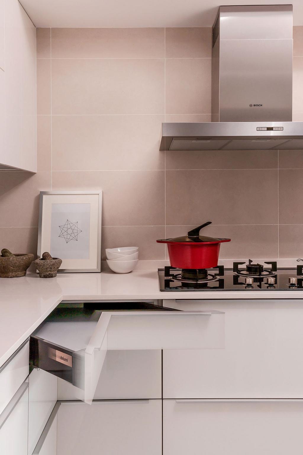 Minimalistic, HDB, Kitchen, Choa Chu Kang North 5 (Block 764), Interior Designer, Icon Interior Design, Bowl, Dutch Oven, Pot