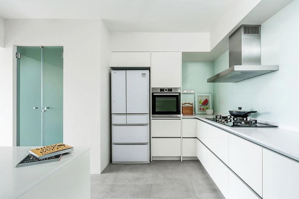 Minimalistic, HDB, Kitchen, Choa Chu Kang Street 54 (Block 768), Interior Designer, Icon Interior Design, Appliance, Electrical Device, Oven