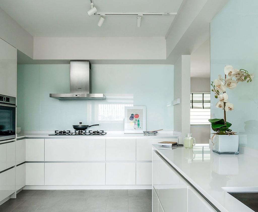 Minimalistic, HDB, Kitchen, Choa Chu Kang Street 54 (Block 768), Interior Designer, Icon Interior Design, Flora, Jar, Plant, Potted Plant, Pottery, Vase, Planter