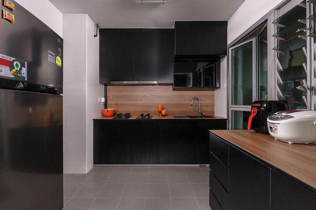Modern, HDB, Kitchen, Choa Chu Kang (Block 815B), Interior Designer, Icon Interior Design, Indoors, Interior Design, Room