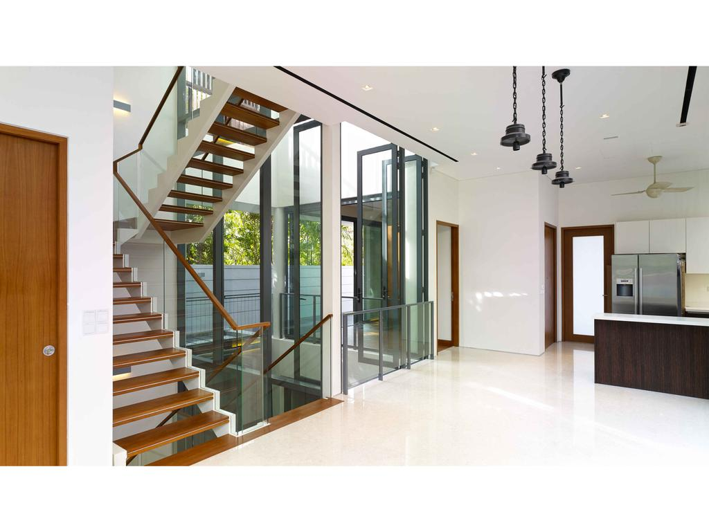 Modern, Landed, 26 Berrima Road, Architect, TENarchitects, Banister, Handrail, Staircase, Furniture, Sideboard, Indoors, Interior Design