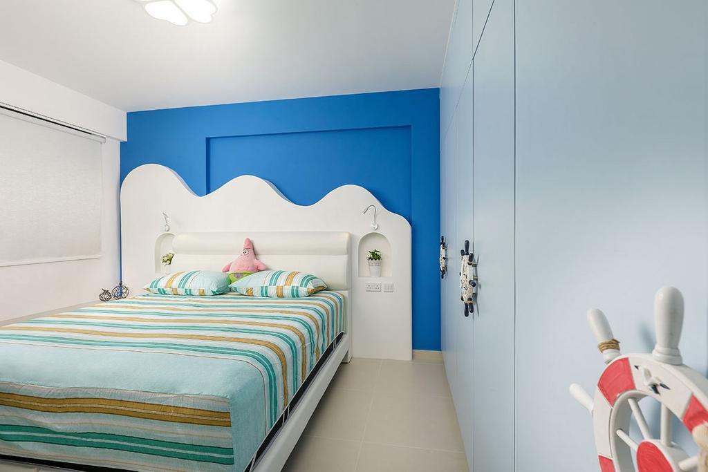 Modern, HDB, Bedroom, Keat Hong Link (Block 817B), Interior Designer, Icon Interior Design, Bed, Furniture, Indoors, Interior Design, Room