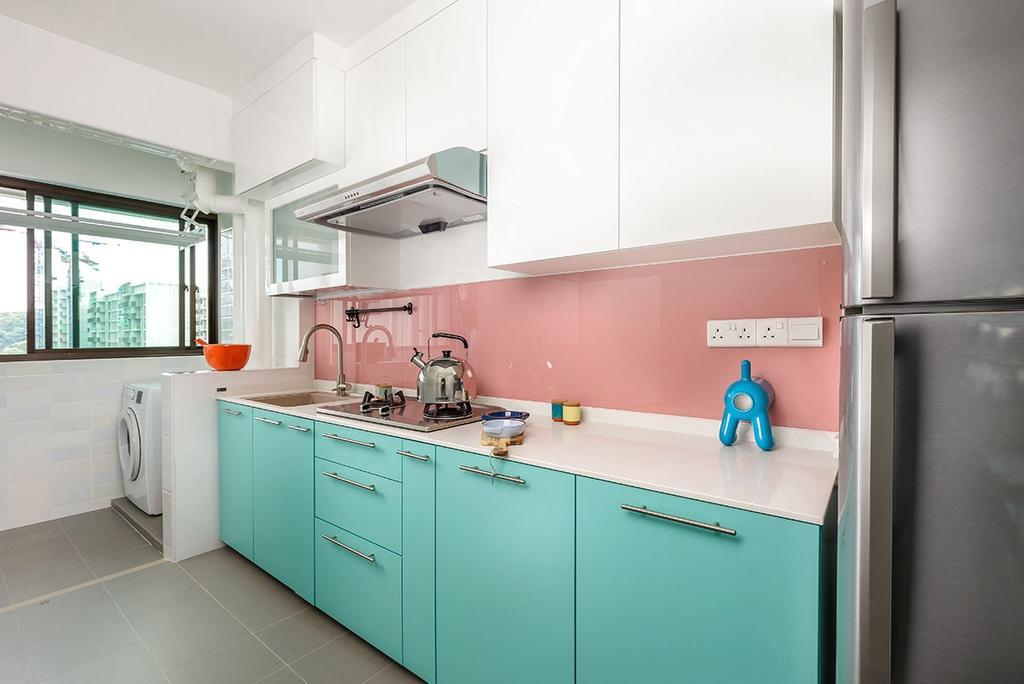 Modern, HDB, Kitchen, Keat Hong Link (Block 817B), Interior Designer, Icon Interior Design, Indoors, Interior Design, Room