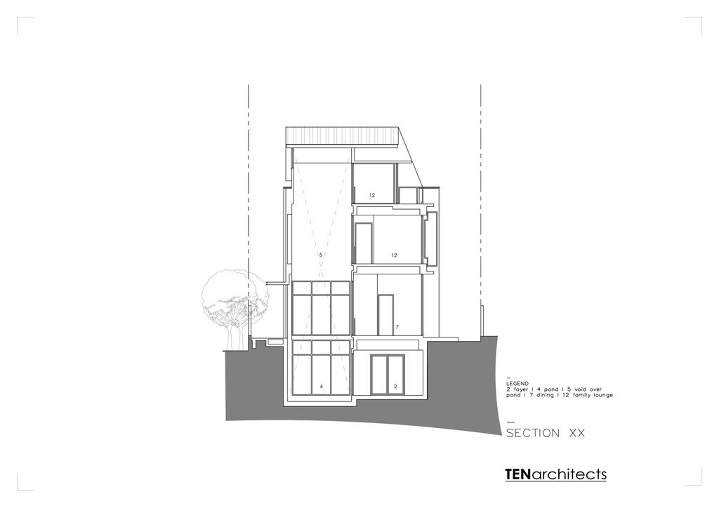 Modern, Landed, 26 Berrima Road, Architect, TENarchitects, Floor Plan, Diagram, Plan