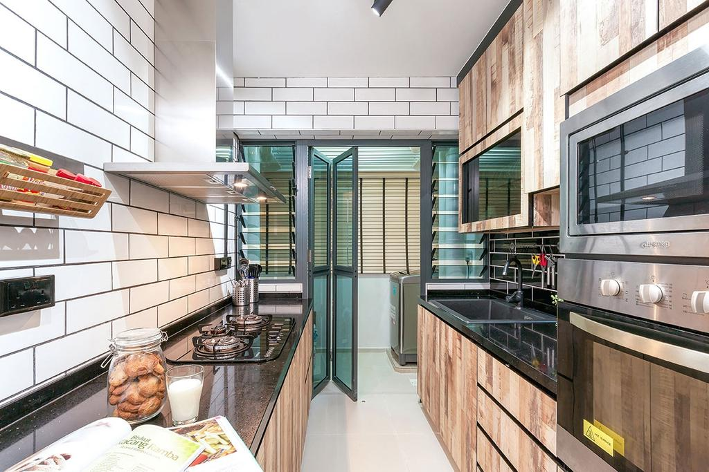Eclectic, HDB, Kitchen, Punggol, Interior Designer, Icon Interior Design, Appliance, Electrical Device, Oven, Indoors, Interior Design, Room, Cup