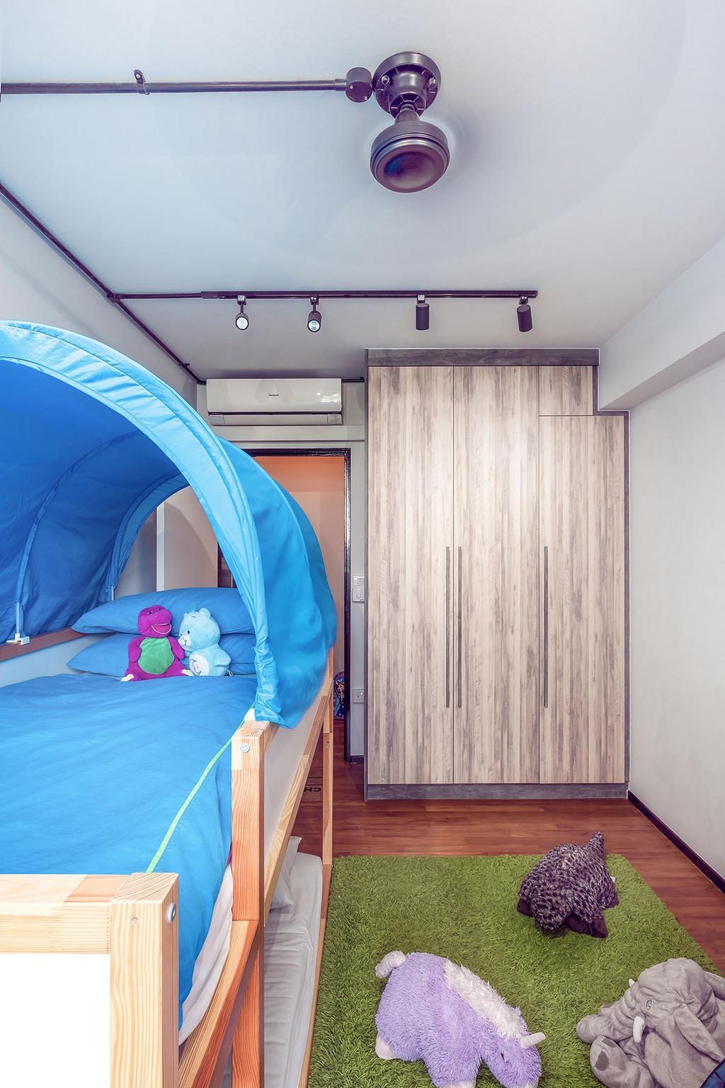 Eclectic, HDB, Bedroom, Punggol, Interior Designer, Icon Interior Design, Bed, Furniture