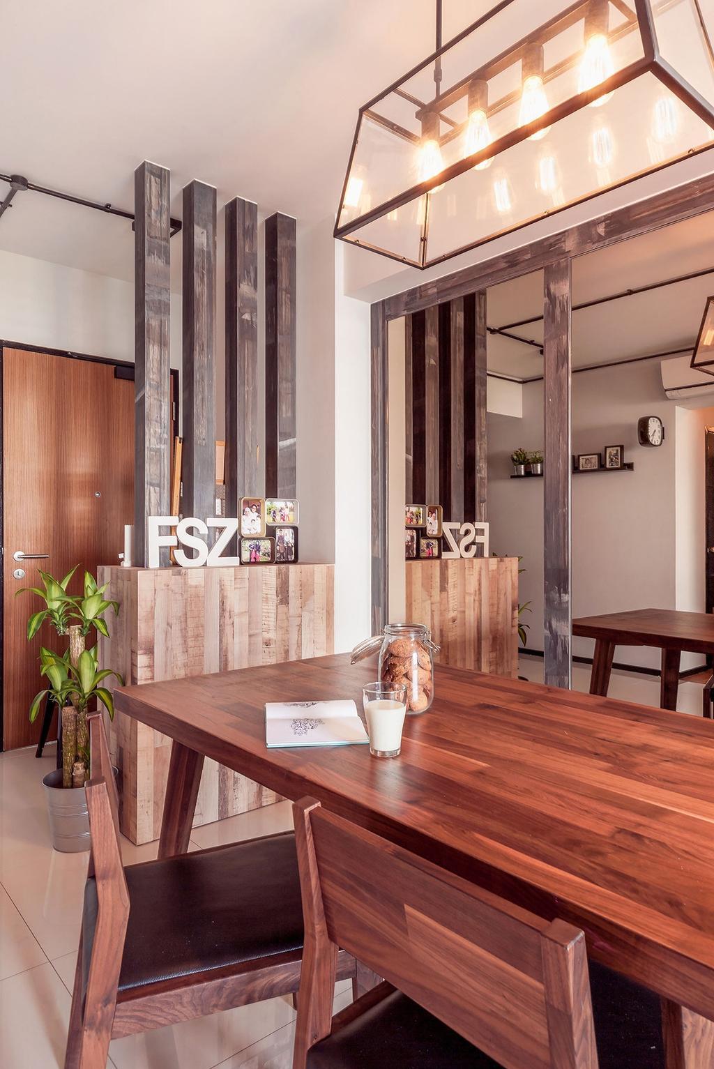 Eclectic, HDB, Dining Room, Punggol, Interior Designer, Icon Interior Design, Indoors, Interior Design, Room