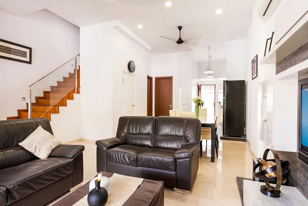 Modern, Landed, Living Room, Jalan Kayu, Interior Designer, Icon Interior Design, Couch, Furniture